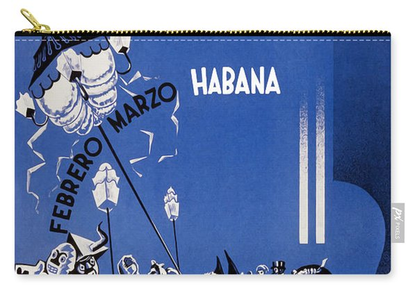 1946 Carnaval Vintage Travel Poster Carry-all Pouch