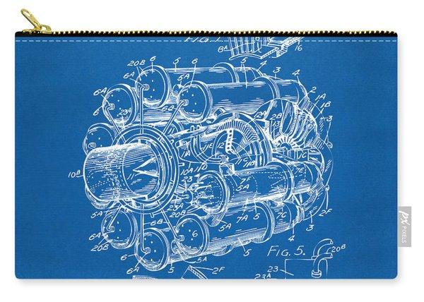 1946 Jet Aircraft Propulsion Patent Artwork - Blueprint Carry-all Pouch