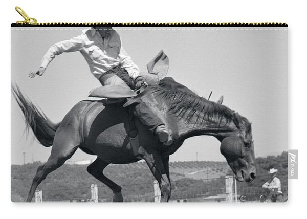 1950s Cowboy Riding A Horse Bareback Carry-all Pouch