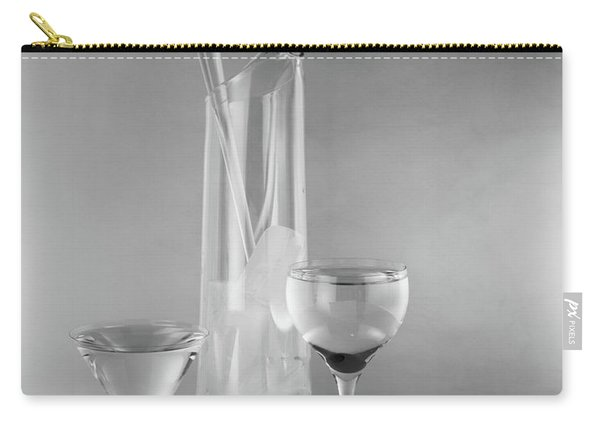 1950s Glass Martini Pitcher For Making Carry-all Pouch