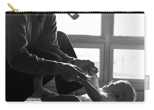 1950s Silhouetted By Window Light Carry-all Pouch