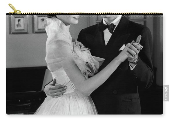 1950s Smiling Teenage Couple In Formal Carry-all Pouch