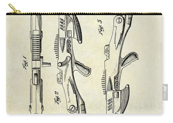 1953 Toy Gun Patent Drawing  Carry-all Pouch