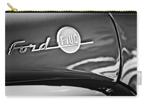 1955 Ford F-100 Pickup Truck Side Emblem -3515bw Carry-all Pouch