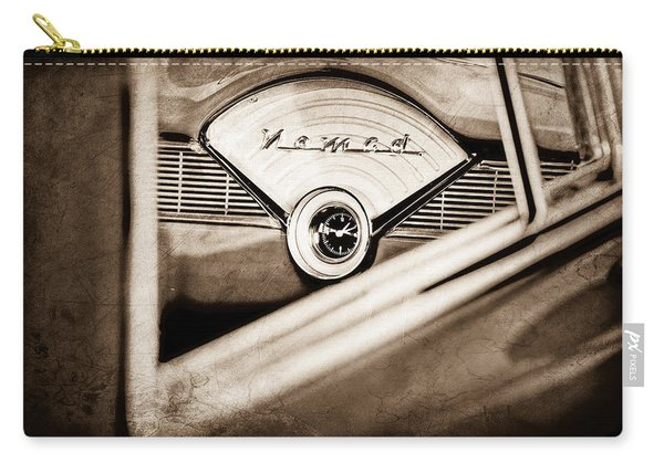 1956 Chevrolet Belair Nomad Dashboard Emblem Carry-all Pouch
