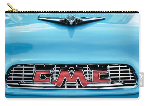 1956 Gmc 100 Deluxe Edition Pickup Truck Hood Ornament - Grille Emblem Carry-all Pouch