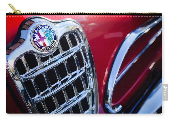 1957 Alfa-romeo 1900c Super Sprint Grille Emblem Carry-all Pouch