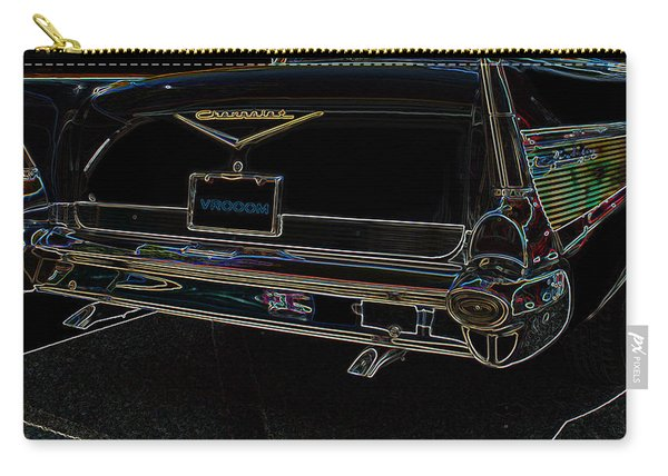 1957 Chevrolet Rear View Art Black_varooom Tag Carry-all Pouch