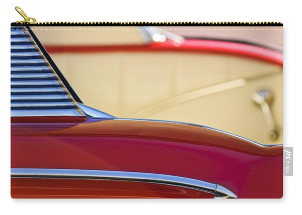 1958 Chevrolet Belair Abstract Carry-all Pouch