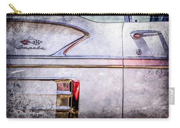 1958 Chevrolet Belair Impala Convertible Side Emblem -0615ac Carry-all Pouch