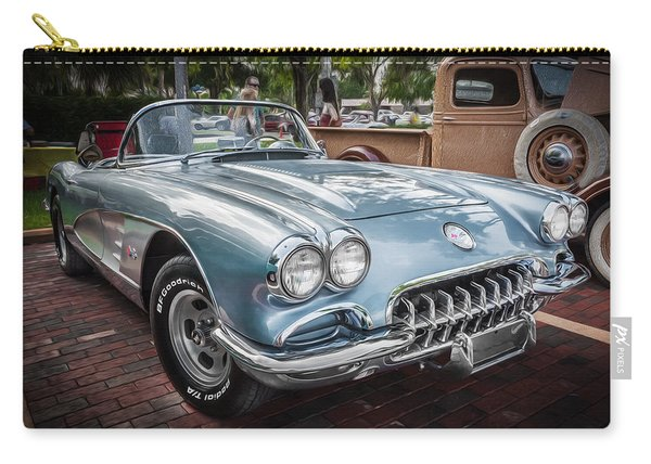 1958 Chevy Corvette Painted Carry-all Pouch