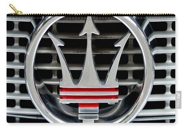 1958 Maserati Hood - Grille Emblem -0606c45 Carry-all Pouch