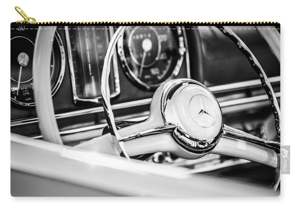 1958 Mercedes-benz 300sl Roadster Steering Wheel -1131bw Carry-all Pouch