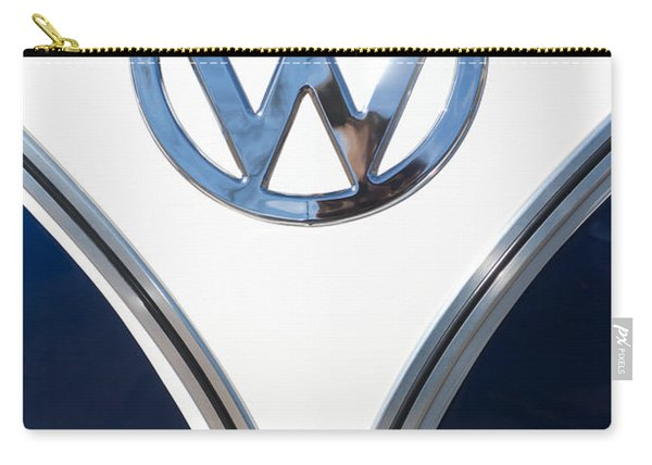 1958 Volkswagen Vw Bus Emblem Carry-all Pouch