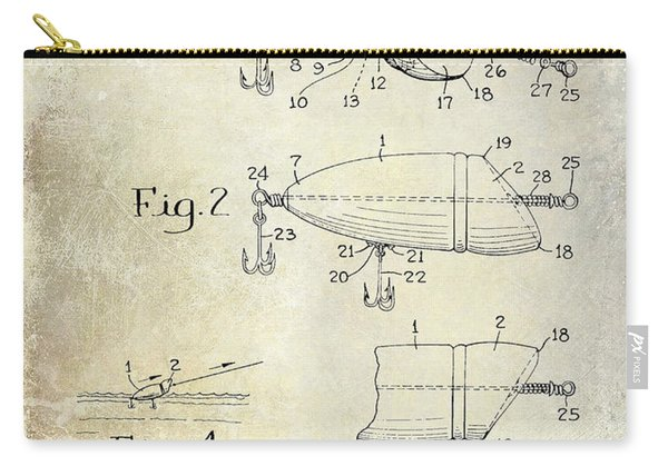 1959 Fish Lure Patent Drawing  Carry-all Pouch