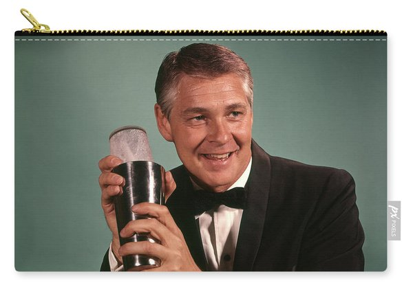 1960s 1970s Bartender Smiling Man Carry-all Pouch