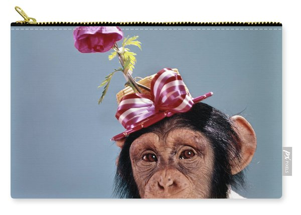 1960s Chimpanzee Wearing Dress Carry-all Pouch