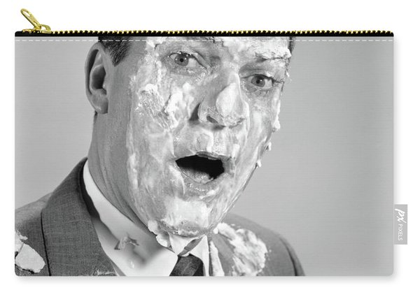 1960s Man Face Shoulders Pie Carry-all Pouch