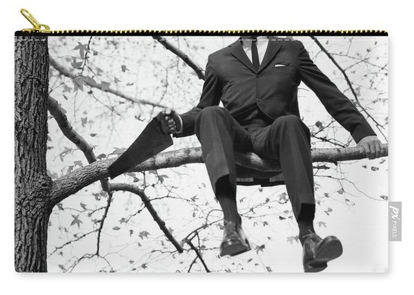 1960s Man In Tree Branch Limb Carry-all Pouch