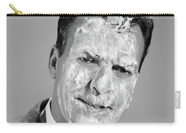 1960s Portrait Man Covered In Meringue Carry-all Pouch