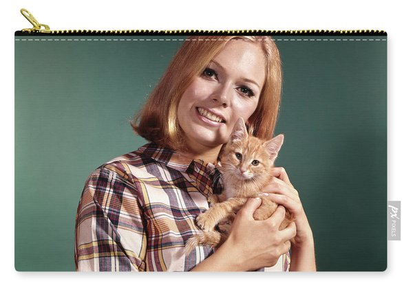 1960s Portrait Young Blond Woman Wear Carry-all Pouch