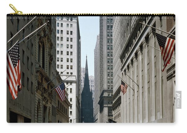 1960s View Down Wall Street To Trinity Carry-all Pouch
