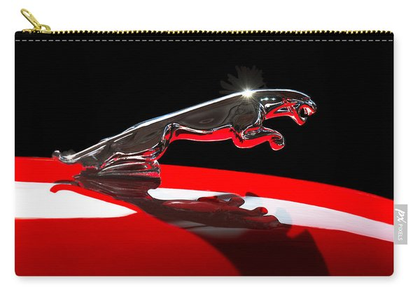 1961 Jaguar Kougar Hood Ornament -0569c Carry-all Pouch