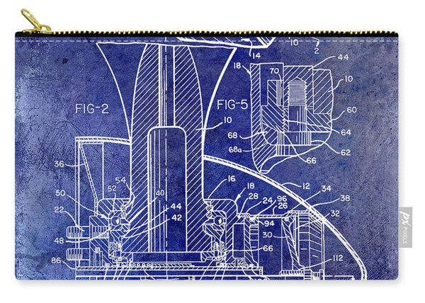 1961 Propeller Patent Blueprint Carry-all Pouch