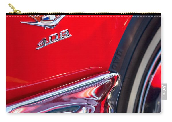 1962 Chevrolet Impala Ss 409 Emblem Carry-all Pouch