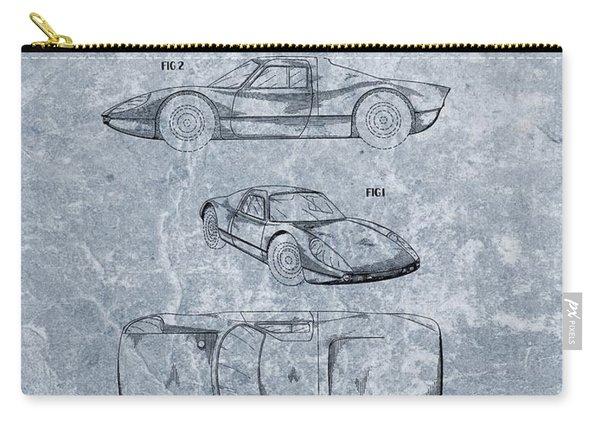 1964 Porsche Patent Blue Carry-all Pouch