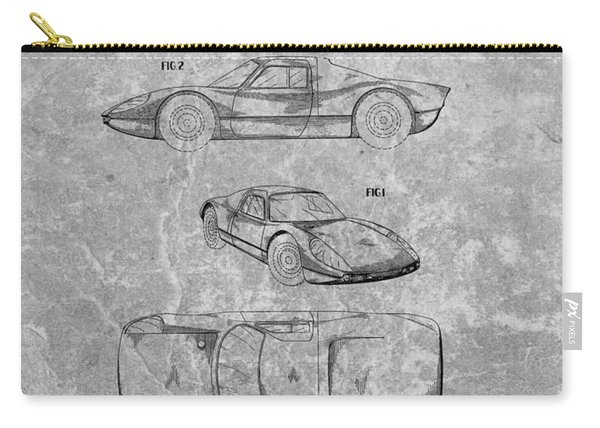 1964 Porsche Patent Charcoal Carry-all Pouch