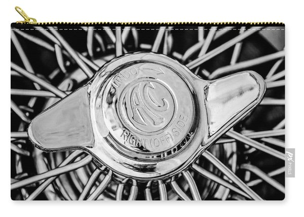 1964 Shelby 289 Cobra Wheel Emblem -0666bw Carry-all Pouch