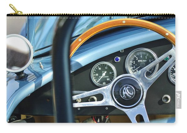 1965 Ac Cobra Steering Wheel 4 Carry-all Pouch
