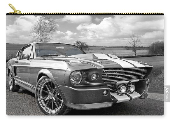 1967 Eleanor Mustang In Black And White Carry-all Pouch