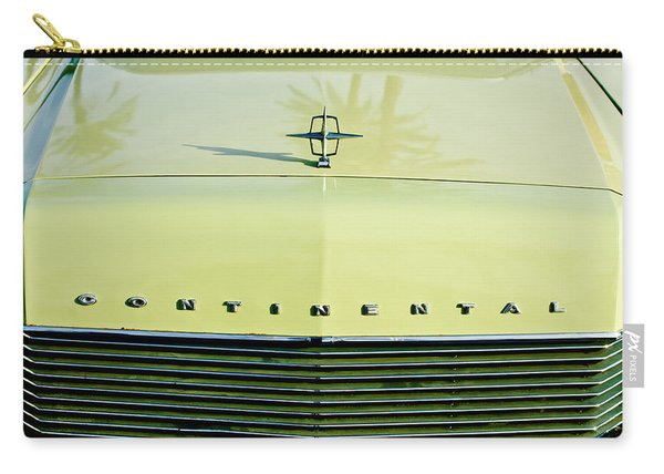 1967 Lincoln Continental Grille Emblem - Hood Ornament Carry-all Pouch