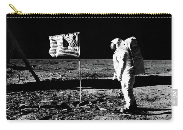 1969 Astronaut Us Flag And Leg Of Lunar Carry-all Pouch