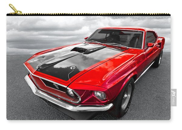 1969 Red 428 Mach 1 Cobra Jet Mustang Carry-all Pouch