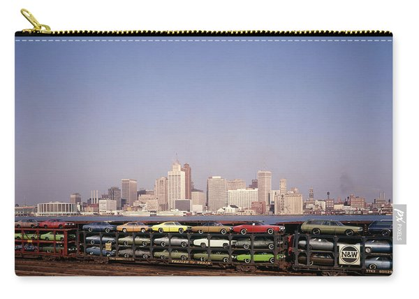 1970s Freight Train Transporting Carry-all Pouch