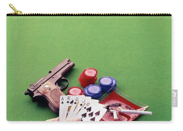 1970s Hand Holding Royal Straight Flush Carry-all Pouch