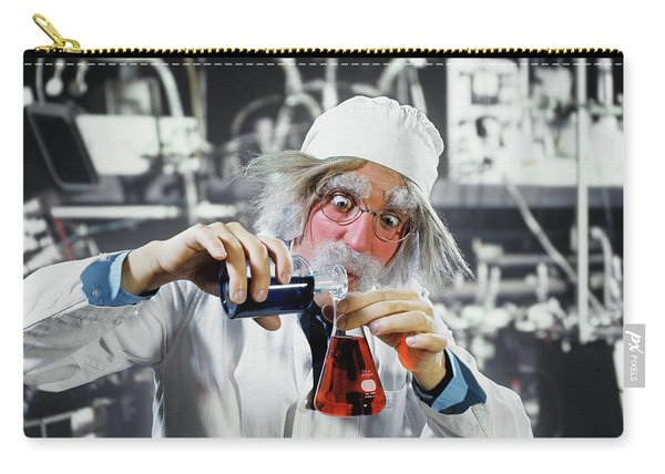 1970s Man Crazy Loony Mad Scientist Carry-all Pouch