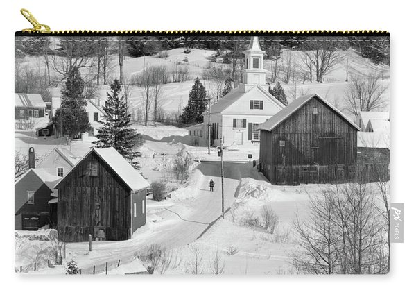 1970s Winter Scenic Of Waits River Carry-all Pouch