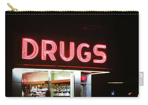 1980s Drug Store At Night Pink Neon Carry-all Pouch