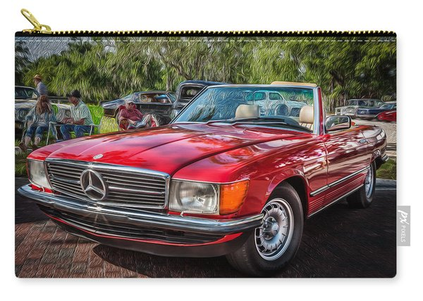 1984 Mercedes 500 Sl Painted  Carry-all Pouch