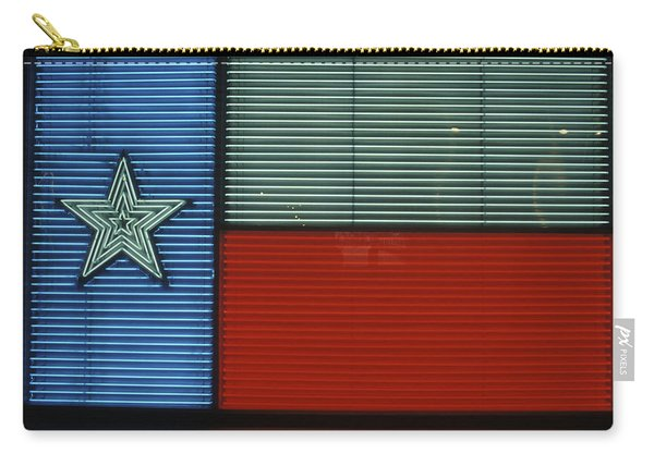 1990s Texas State Flag In Neon Sign Carry-all Pouch