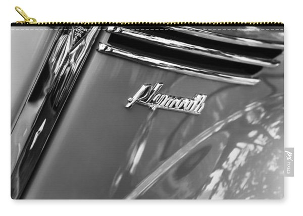 1940 Plymouth Deluxe Woody Wagon Grille Emblems Carry-all Pouch