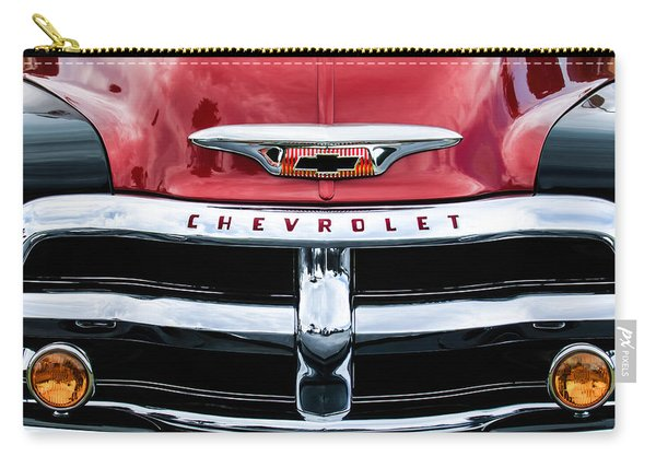 1955 Chevrolet 3100 Pickup Truck Grille Emblem Carry-all Pouch
