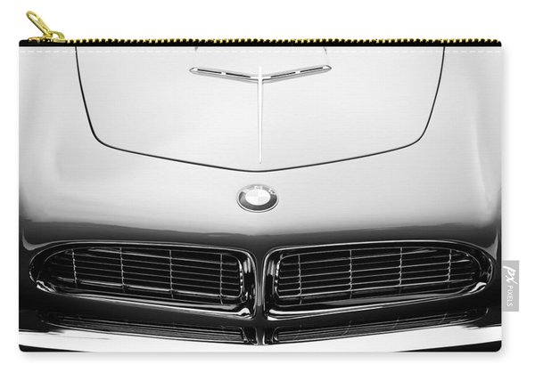 1958 Bmw 507 Series II Roadster Hood Emblem Carry-all Pouch