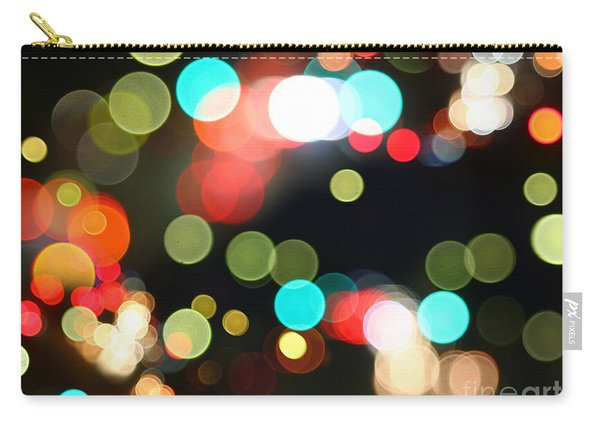Abstract Colorful Round Bokeh Lights Carry-all Pouch