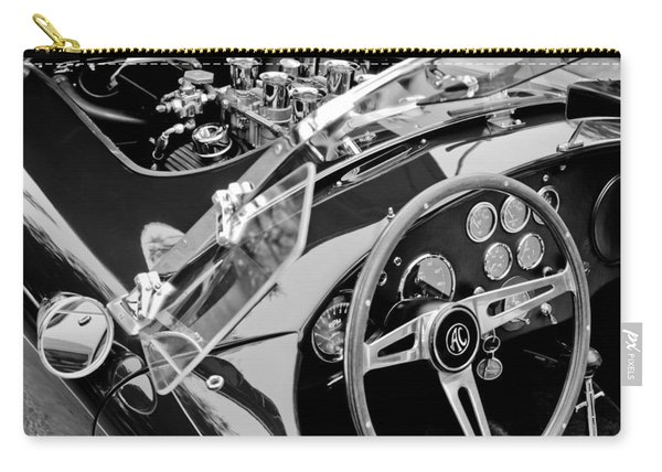 Ac Shelby Cobra Engine - Steering Wheel Carry-all Pouch