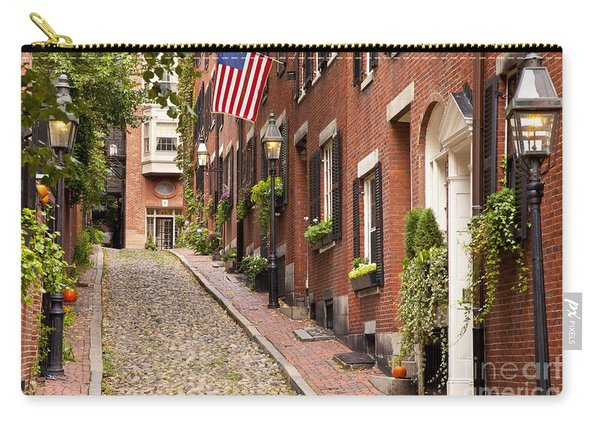 Carry-all Pouch featuring the photograph Acorn Street Boston by Brian Jannsen